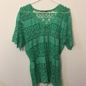 Tops - Lace green top